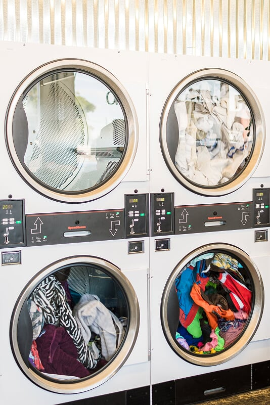 We have large washers and dryers